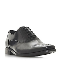 Dune - Black 'Punch' punch hole chisel toe Gibson shoes