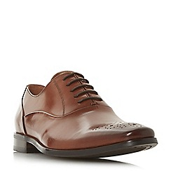 Dune - Tan 'Punch' punch hole chisel toe gibson shoes