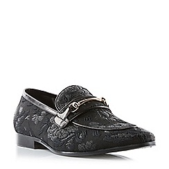 Dune - Black 'Presenter' brocade snaffle loafers