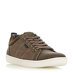 Dune - Brown 'Traore' cupsole lace up trainers