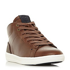 Dune - Brown 'Sergios' high top trainers