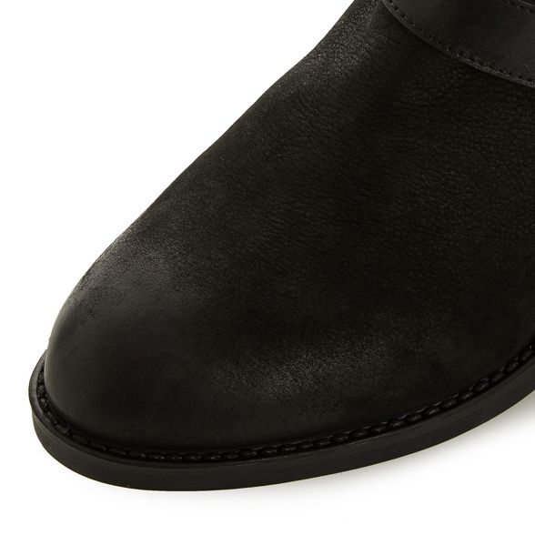 fit Black heel phoenixx' wide boots 'Wf leather Dune block ankle 0wqvUvR