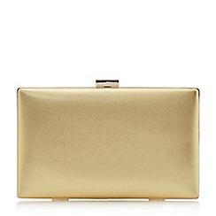 Dune - Gold 'Brocco' gold trim clutch bag