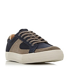 Bertie - Navy 'Banter' contrast panel lace up trainers