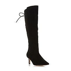 Roberto Vianni - Black 'Sonya' mid stiletto heel knee high boots