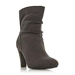 Roberto Vianni - Grey 'Oggy' mid block heel ankle boots
