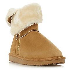 Head Over Heels by Dune - Tan 'Rockiie' snow boots