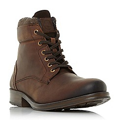 Dune - Brown 'Caper' lace-up worker boots