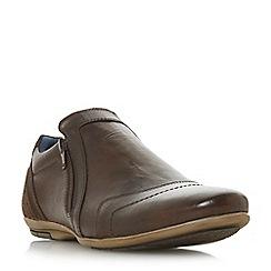 Dune - Brown 'Boulder' side zip detail casual shoes