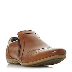 Dune - Tan 'Boulder' side zip detail casual shoes