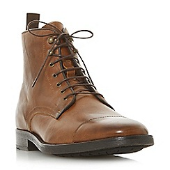 Bertie - Tan 'Christchurch' toecap detail worker boots