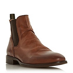 Bertie - Brown 'Cage' pinched gusset Chelsea boots