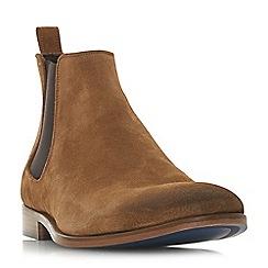Bertie - Tan 'Molecule' round toe Chelsea boots