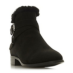 Head Over Heels by Dune - Black 'Parrker' block heel ankle boots