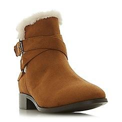 Head Over Heels by Dune - Tan 'Parrker' block heel ankle boots