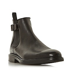Bertie - Black 'Camrod' buckle detail Chelsea boots