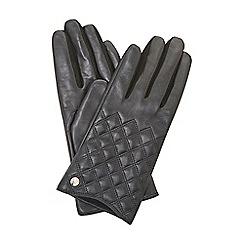 Dune - Black 'Imerelda' quilted gloves