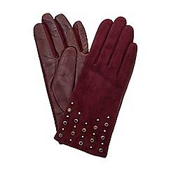 Dune - Dark red 'Irennie' embellished glove