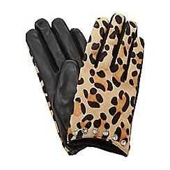 Dune - Multicoloured 'Islaa' leopard print glove