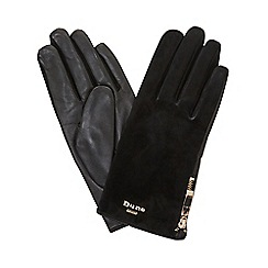 Dune - Black 'Ivie' zip detail glove