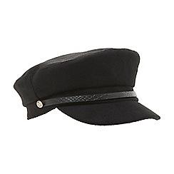 Dune - Black 'Fletch' baker boy hat