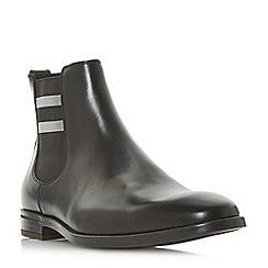 Dune - Black 'Morata' stripe trim Chelsea boots