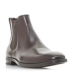 Dune - Brown 'Morata' stripe trim Chelsea boots