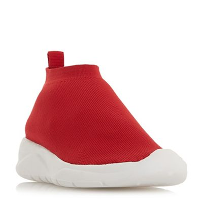 Dune - Red 'Emerald' casual trainers