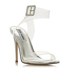 Steve Madden - Silver 'Seeme Steve Madden' high stiletto heel ankle strap sandals