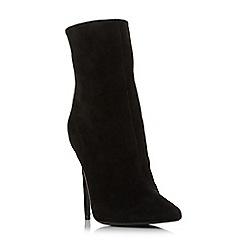 Steve Madden - Black suede 'Wagu' high stiletto heel ankle boots
