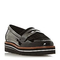 Dune - Black leather 'Gracella' loafers