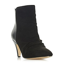 Head Over Heels by Dune - Black 'Odina' high stiletto heel ankle boots