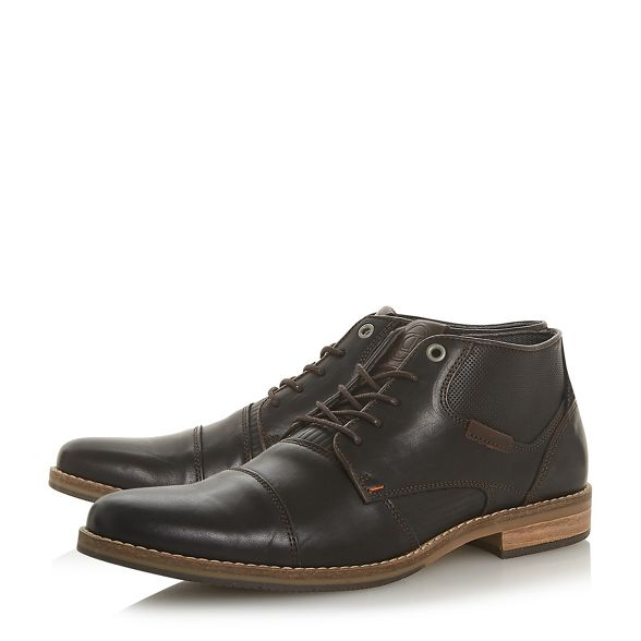 Brown boots chukka lace up Dune 'Chigwell' dqw7xS