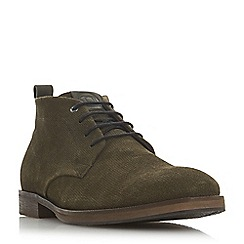 Dune - Khaki 'Cheddar' suede chukka boots