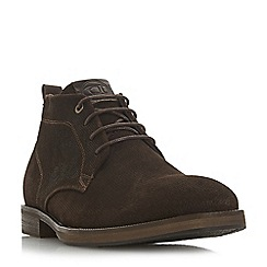 Dune - Brown 'Cheddar' suede chukka boots