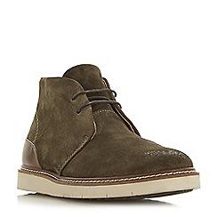 Bertie - Khaki 'Copenhagen' wedge sole chukka boots