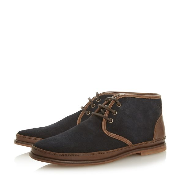 boots 'Canvas' desert up Navy lace Bertie a5wqXfT