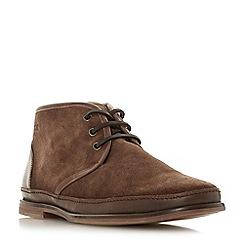 Bertie - Tan 'Canvas' lace up desert boots