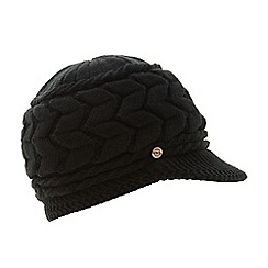 Dune - Black  Farren  Knitted Flat Peak Hat 24359f20fad