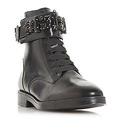 Dune - Black leather 'Rebekha' ankle boots