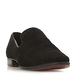 Dune - Black leather 'Galiard' block heel loafers