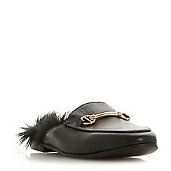 Dune - Black leather 'Geness' mules