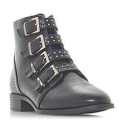Head Over Heels by Dune - Black 'Pamina' block heel ankle boots