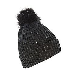 black - Beanie   bobble hats - Dune - Hats gloves   scarves - Women ... 0261a1e5d6a