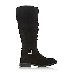 Roberto Vianni - Black suede 'Tutsi' knee high boots