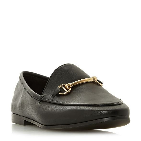 fit Dune loafers 'Wf leather guiltt' wide Black BSSf6pH