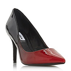 Dune - Red 'Ambre' mid stiletto heel court shoes
