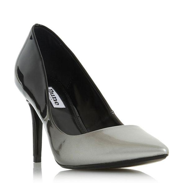 Dune heel 'Ambre' court Grey mid shoes stiletto C1COrq