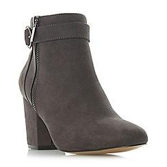 Head Over Heels by Dune - Grey 'Olympia' mid block heel ankle boots