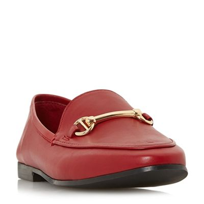 Dune - Red leather 'Guiltt' loafers
